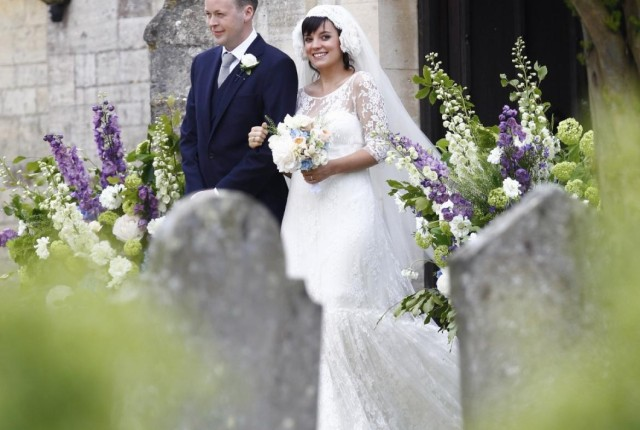 Lily Allen wedding photo from Reuters