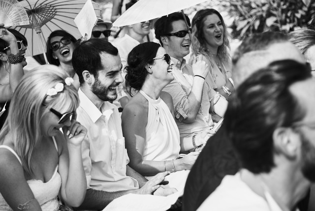 Let your wedding peeps earn their keep!! Let them literally sing for their supper, ha ha! Photo by Miki Barlok.
