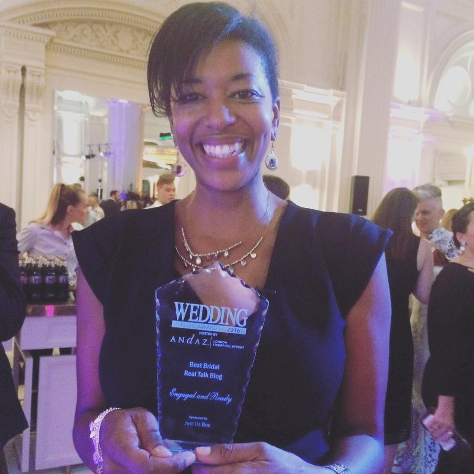 Natasha Johnson at the Wedding Blog awards