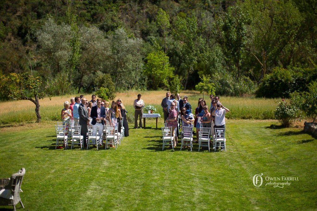 Stunning garden wedding ceremony