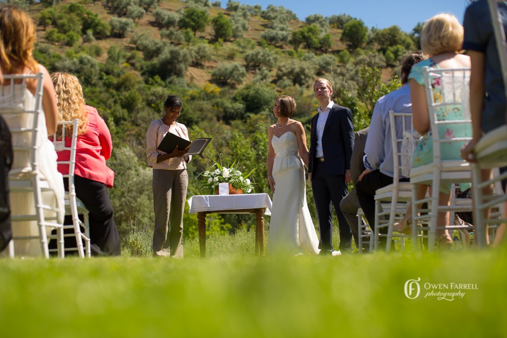 Garden wedding ceremony in Malaga
