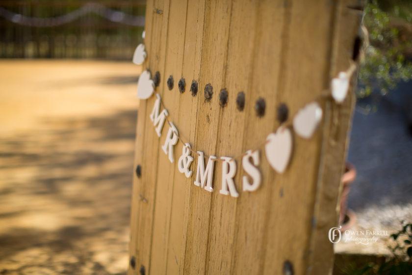 Wedding ceremony signage