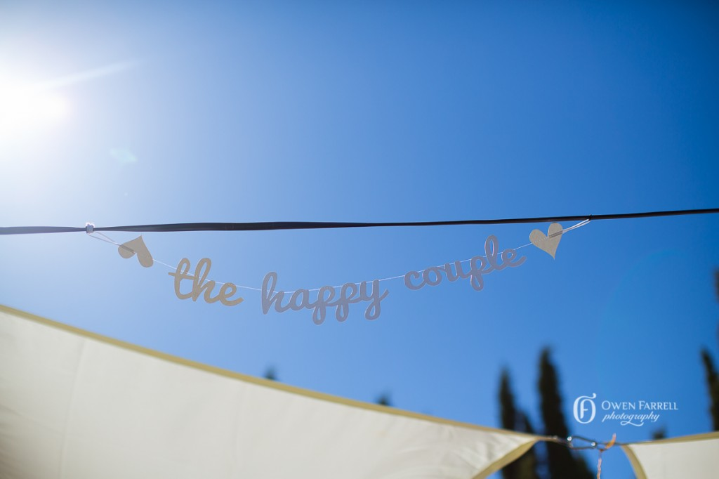 Wedding ceremony signage