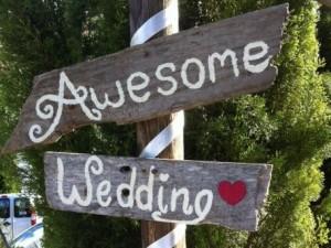 Awesome wedding sign