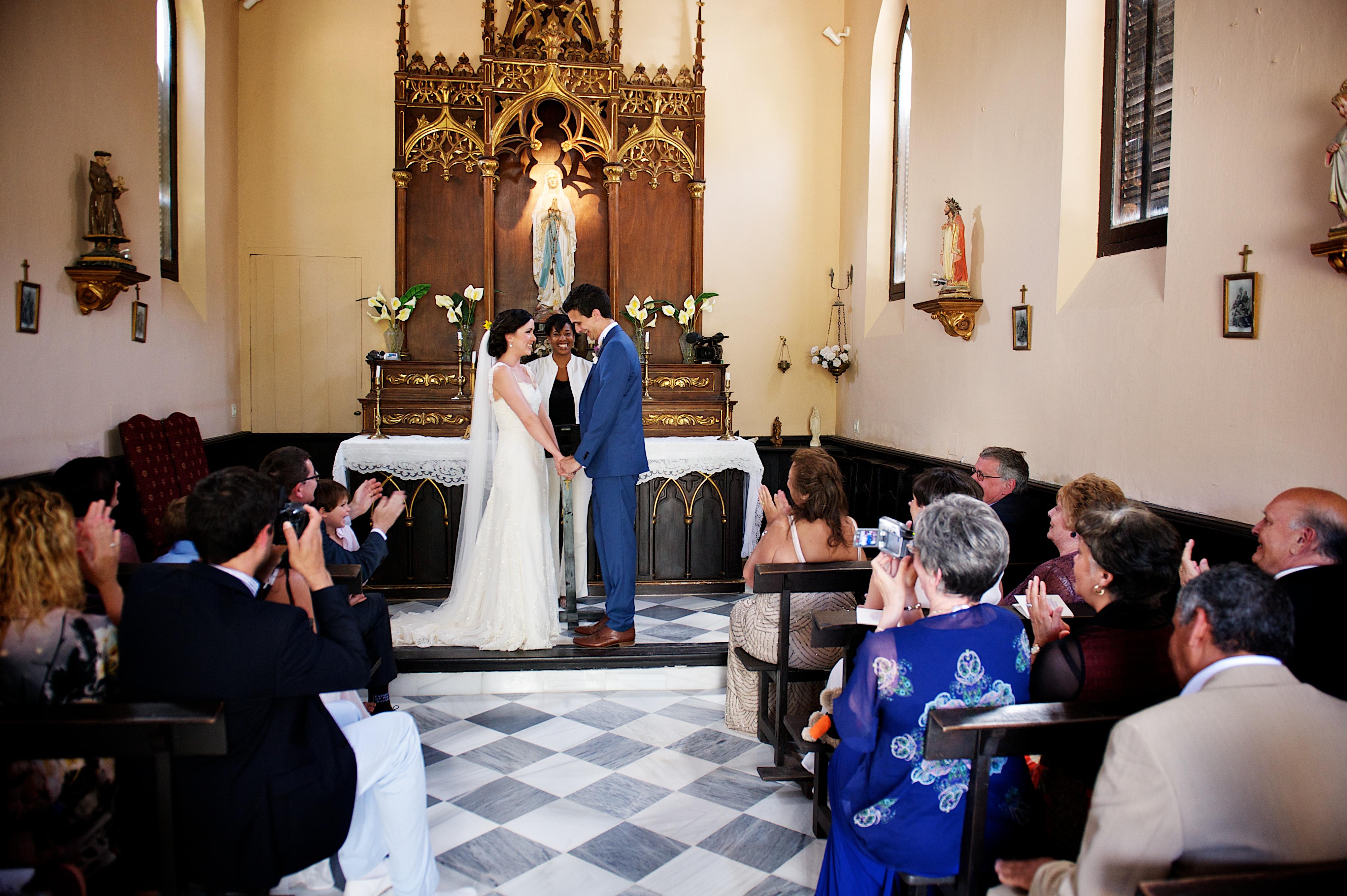 wedding ceremony Palacete las Cazulas