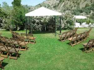 Wedding seating for guests