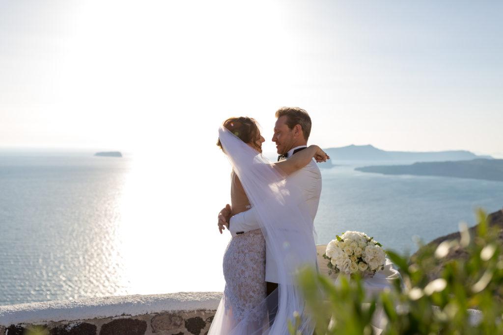 Kata and Warren Santorini Celebrant Wedding