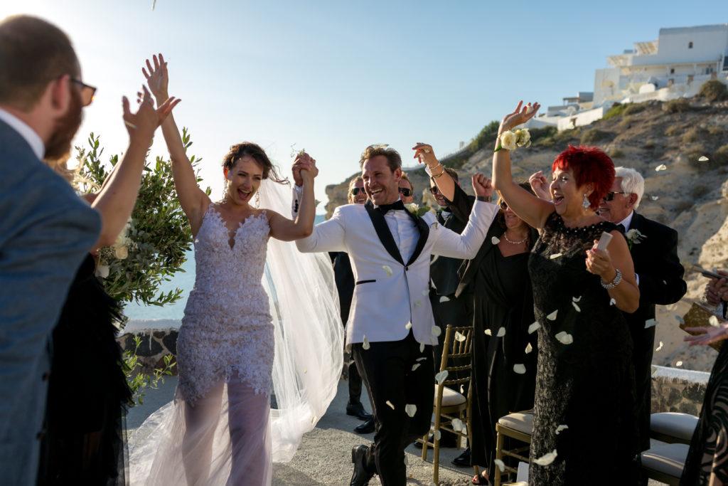 Warren and Kata Santorini Wedding Ceremony
