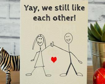 Funny Valentines Day card ETSY