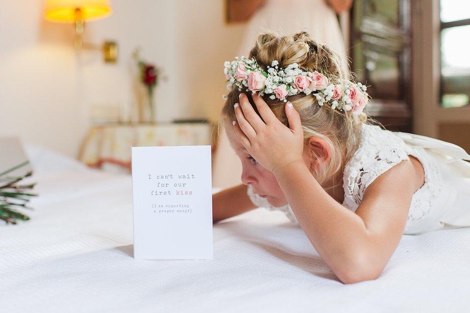 A flowergirl at a wedding
