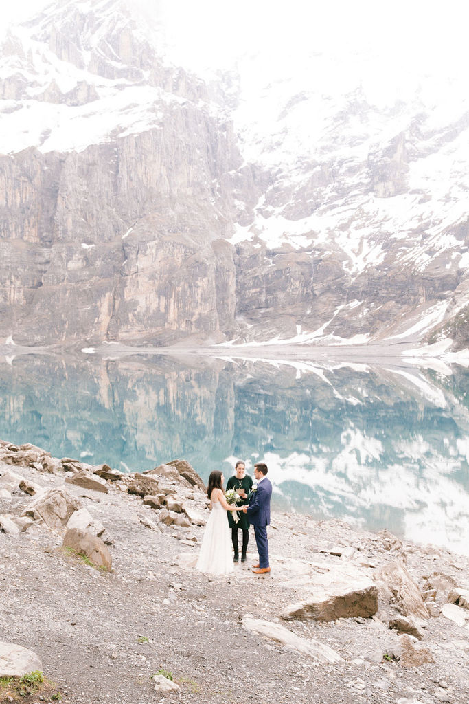 Elopement on Lake Oeschinen , Switzerland