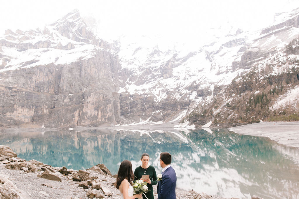 Elopement on Lake Oeschinen, Switzerland