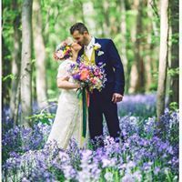 Bluebell woodland Wedding in Kent. Tilmanstone Woods
