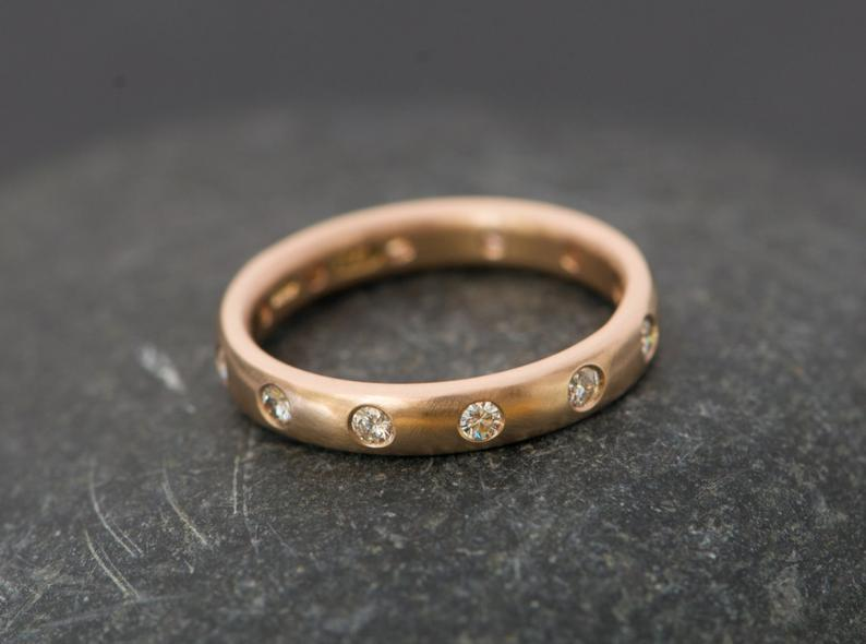 Gold ethical wedding ring