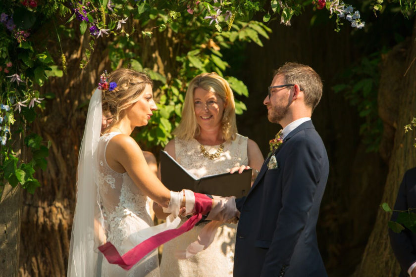 Wedding Celebrant leading a wedding ceremony
