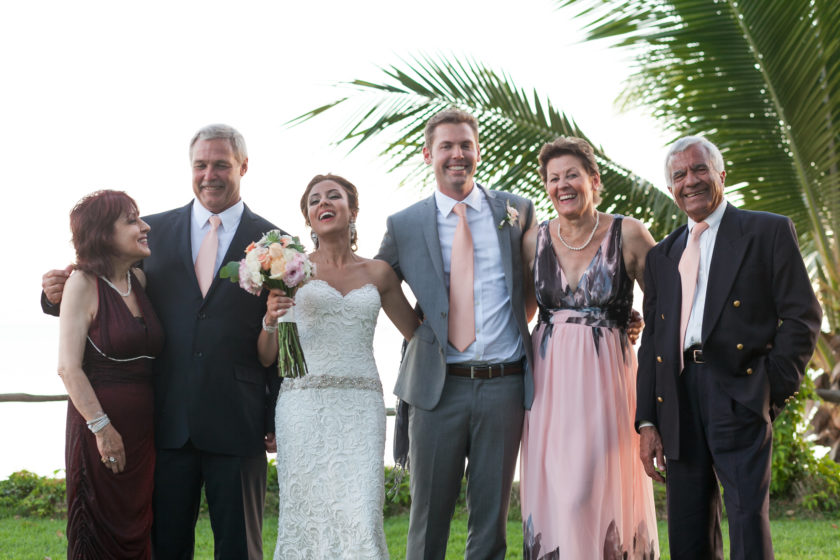 Family wedding photo