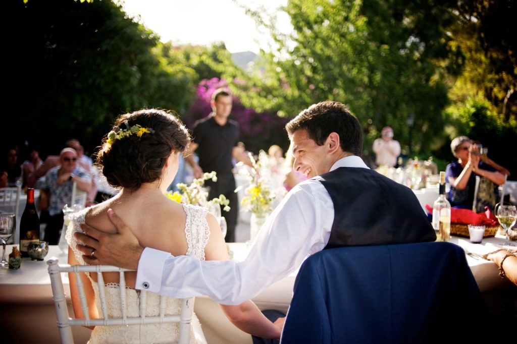 Spanish garden wedding