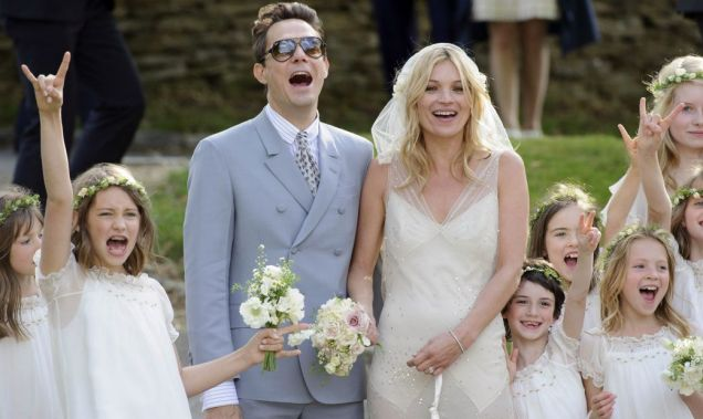 Kate Moss wedding photo from Reuters